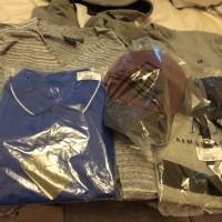 Clothes: tee shirts, jackets, tops x 8