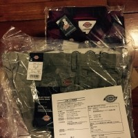 Dickies shirt and pants from Japan