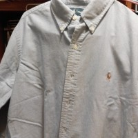 Custom-Fit Solid Oxford, Classic Blue, L(STYLE: 81064,COLOR: Classic Blue) x 1