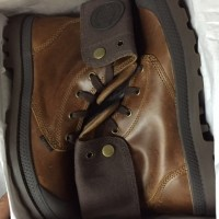 Mens Palladium Baggy Leather Shoes