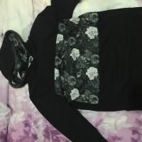 Worland Mesh Floral Hoodie in Black S X1