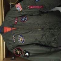 Boys MA-1 Jacket with Patches Color X 1