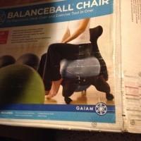 Classic Balance Ball Chair w/Charcoal Ba